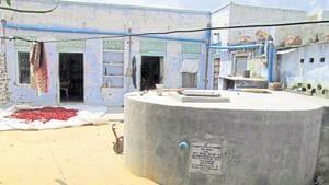 The New Delhi Municipal Council (NDMC) will develop rainwater harvesting chambers at nearly 60 locations under its jurisdiction(HT Photo)