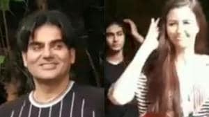 Arbaaz Khan, son Arhaan and girlfriend Giorgia Andriani spotted in Mumbai.