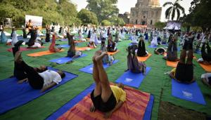 One of the biggest contributions of India to the world is the knowledge of Yoga, now accepted internationally by the United Nations (UN) and the world. International Yoga Day is celebrated every year on the day of Summer Solstice (June 21) since 2014.(Biplov Bhuyan/HT PHOTO)