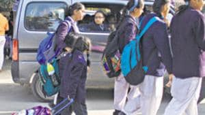 The department of education has said it will initiate action against unrecognised private schools and file an FIR if the schools reopen on Monday after the summer break.(Yogendra Kumar/HT PHOTO)