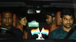Alia Bhatt and Ranbir Kapoor seen together in Mumbai.(Varinder Chawla)