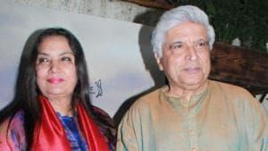 Shabana Azmi and lyricist and scriptwriter Javed Akhtar at the screening of web series Music Teacher.(IANS)