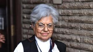 Supreme Court lawyer Indira Jaisingh in New Delhi on Thursday(Sanchit Khanna/ HT photo)