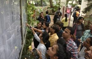 The first merit list for FYJC admissions will be released on July 12.(Kunal Patil/HT Photo)