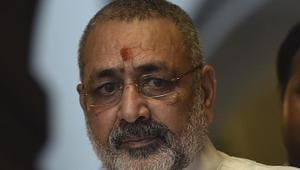 Union Minister of Animal Husbandry, Dairying and Fisheries, Giriraj Singh, initially posted his comments on population explosion on social media and later spoke to the media.(HT FILE PHOTO.)