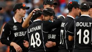 India vs New Zealand: Kane Williamson and team celebrate their win over India(Action Images via Reuters)