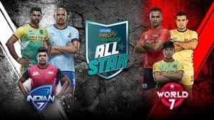 All-Star kabaddi match will India 7 take on World 7 at the Gachibowli Stadium in Hyderabad.(Pro Kabaddi League)
