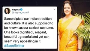 #SareeTwitter trends as women share their pictures wearing Saree's.(Twitter)