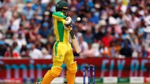 Australia's Alex Carey is struck on the helmet by the ball off the bowling of England's Jofra Archer.(Action Images via Reuters)