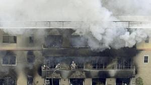 13 feared dead in suspected fire at Japan film studio