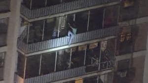 In true Spider-man style, man scales down 19-storey building to escape fire