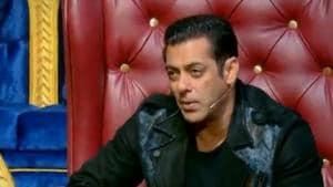 Salman Khan in the opening episode of Nach Baliye season 9.
