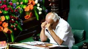 Karnataka Assembly Speaker KR Ramesh Kumar at assembly session at Vidhana Soudha in Bengaluru on Monday.(Photo: PTI)