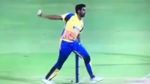 Ravichandran Ashwin stunned everyone with a bizarre bowling action during the Tamil Nadu Premier League (TNPL).(Twitter)