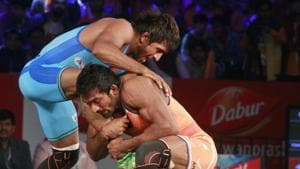 Will Bjarang Punia thrive in the World Wrestling C'ship trials.(Hindustan Times)