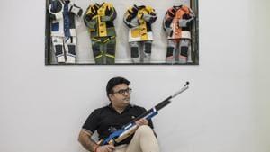 Shooter Nilesh Rane.(HT Photo/Satish Bate)