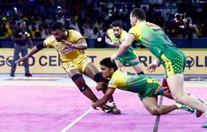 Patna Pirates record first win of the season, beat Telugu Titans 34-22(Pro Kabaddi League)