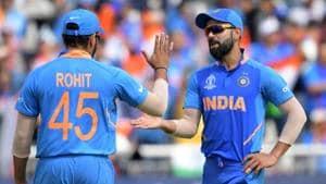 India captain Virat Kohli with his deputy Rohit Sharma.(AFP)