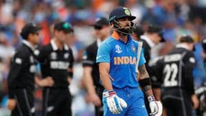 Indian captain Virat Kohli goes back to the pavillion after losing his wicket.(Action Images via Reuters)
