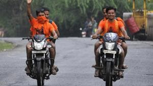 Amid terror threats, unprecedented security measures have been taken by the police of several northern Indian states to ensure a peaceful Kanwar Yatra this season.(Sunil Ghosh / Hindustan Times)