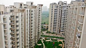 All the towers in the condo are named after musical notes, such as 'Harmony', 'Chorus', 'Rhythm' and 'Symphony'.(HT Photo)