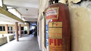 """Private schools were directed to ensure they fulfil conditions laid for securing Fire Safety Certificates and that the """"schools have Fire Safety Certificates duly issued by Fire Services and they rectify all deficiencies.""""(HT Photo)"""