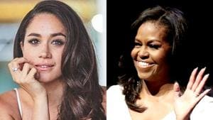 As a visitor editor of 'British Vogue,' Markle sent a set of questions to Obama.(HT File Photo)