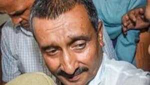 BJP MLA Kuldeep Singh Sengar, in Lucknow.(PTI)