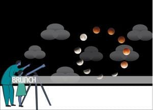 The phases of the moon supply fitting metaphors for human struggles and successes(Illustration: Sunil Kumar Mallik)