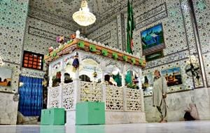 The shrine of Sufi saint Shah Noorani in Balochistan, Pakistan. Seven days after Annie Ali Khan visited the shrine, on November 13, 2016, a blast during the(Getty Images)