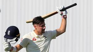 Rory Burns scored his maiden ton for England.(AFP)