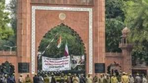 Uneasy calm prevailed on the Aligarh Muslim University (AMU) campus on Friday a day after four student leaders were arrested for allegedly creating unrest on the campus.(PTI)