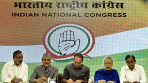 Addressing a press conference at the Congress office in New Delhi, senior party leader Ghulam Nabi Azad said the Amarnath Yatra has never been curtailed, even when the pilgrimage was targeted by terrorists.(Biplov Bhuyan, HT Photo)