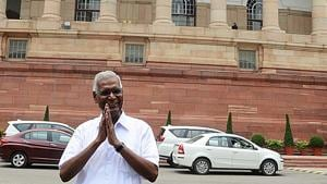 Communist Party of India (CPI) national general secretary D Raja on Saturday said the Uttar Pradesh government had badly failed in protecting the poor.(ANI Photo)