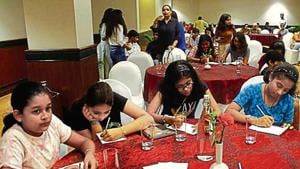 'One More Chapter Lit Fest' was organised at DLF Club 5 in Gurugram on Sunday.(Yogendra Kumar/HT PHOTO)