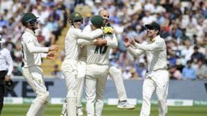 England vs Australia highlights , Ashes 2019 1st Test Day 5 at Edgbaston.(AP)