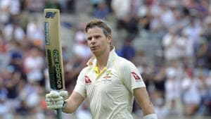 Steven Smith after being dismissed during day four of the first Ashes Test cricket match between England and Australia.(AP)