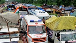 With ambulance operations yet to reach full potential since last month's strike, police vans responded to calls for help from five women in labour on Friday and Saturday in different parts of the city.(HT Photo)
