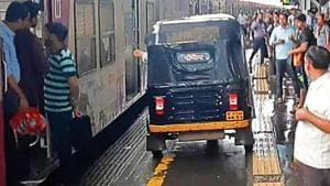 The train had halted at the station, owing to the delay in services caused by heavy rain, when the woman developed labour pain.(HT Photo)