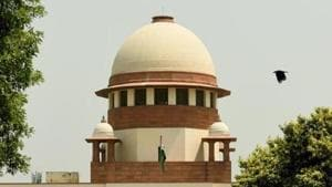 A petition challenging the presidential order that paved the way for scrapping Article 35-A, and effectively revoking Article 370 of the Constitution was filed in the Supreme Court on Tuesday by advocate M L Sharma.(Amal KS/HT PHOTO)