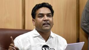 Former AAP lawmaker Kapil Mishra(Sushil Kumar/HT File)