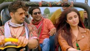 Sidharth Malhotra and Parineeti Chopra in a still from Jabariya Jodi.
