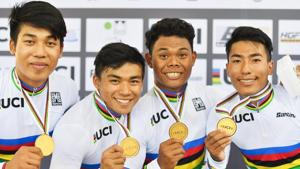 India won a historic gold medal at the Junior Track Cycling World Championships.(Simon Wilkinson/SWpix.com)