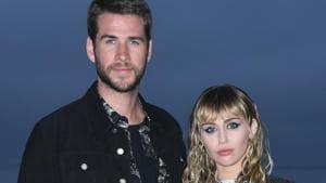 Miley Cyrus (R) and Australian actor Liam Hemsworth recently announced their split.(AFP)