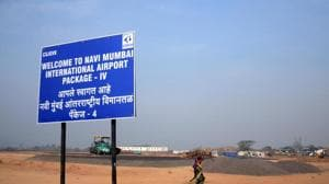 The elevated harbour railway corridor to Panvel will connect to both the Navi Mumbai and Mumbai airports.(HT File Photo)