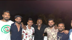 PHOTOS: Rohit, Dhawan attend all-star dinner party at Brian Lara's home
