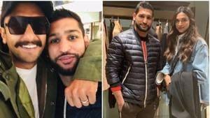 Deepika Padukone and Ranveer Singh met British boxer Amir Khan in London.