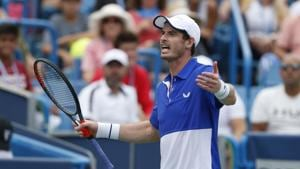 Andy Murray during the Western & Southern Open tennis tournament.(AP)