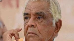Babulal Gaur, 89, passed away at a private hospital in Bhopal on Wednesday morning.(HT PHOTO.)
