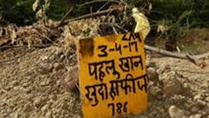 The place where Pehlu Khan is buried in Haryana.(HT File Photo)